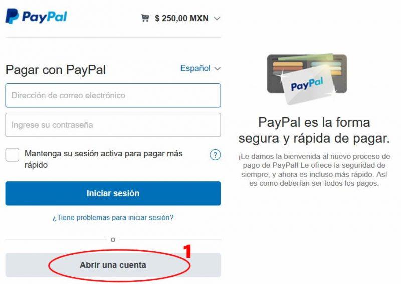 Pagar simulador con tarjeta de crédito paso 1